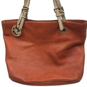 Michael Kors Brown Large Grain Leather Tote Bag